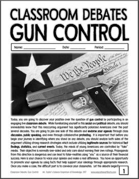 Classroom Debates: Gun Control