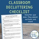 Classroom Decluttering Challenge Checklist