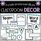 Classroom Decor Purple, Green, and Blue