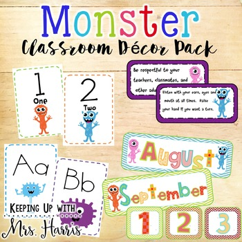 Monster Classroom - Monster Class Decor