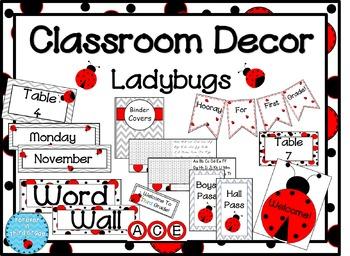 Ladybug Classroom Theme
