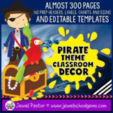 Pirate Classroom Theme Decor EDITABLE (Pirate Theme Classr
