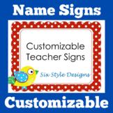 Teacher Name Sign   Door Sign   EDITABLE   Classroom Door Decor