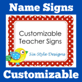 Teacher Door Sign Name | EDITABLE