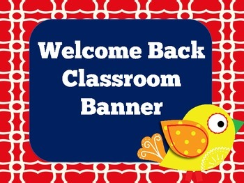 Welcome Banner | Classroom Banner | Printable Banner