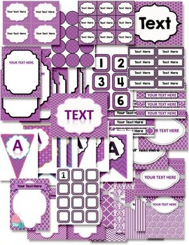 Classroom Decor Purple Party