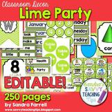 Editable Classroom Decor Lime Party