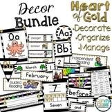 Editable Classroom Decor Bundle - Heart of Gold