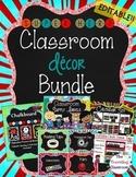 Classroom Decor {Chalkboard Super Hero Theme} - Editable C