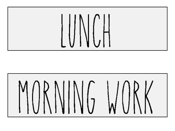 Classroom Decor/Schedule