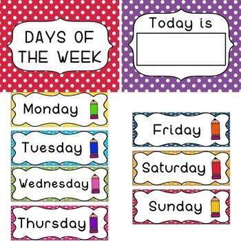 Classroom Decor Polka Dot theme