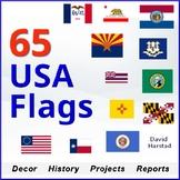 U.S. States | 65 USA & State Flags