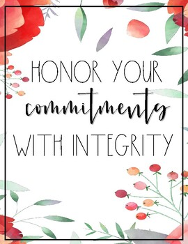 Classroom Decor - 8 Loyalty, Honor, & Integrity Posters!