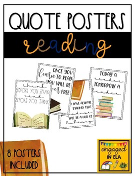 Classroom Decor - 8 Reading Posters!