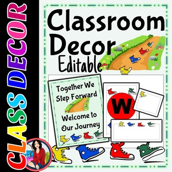 Back to School Class Decor Editable Tags Labels Signs