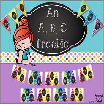 Classroom Decor ...ABC pendant for Bulletin Board displays