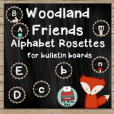 Classroom Decor - Alphabet Banner Rosettes - Woodland Frie