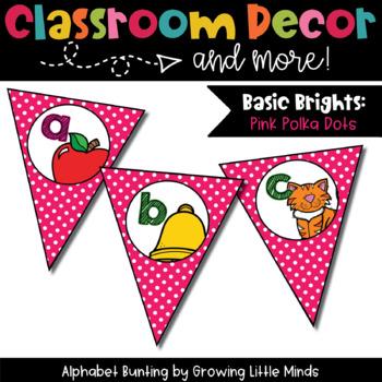 Classroom Decor:  Alphabet Letter/Sound Bunting
