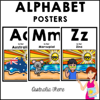 AUSTRALIA Classroom Decor Alphabet Posters