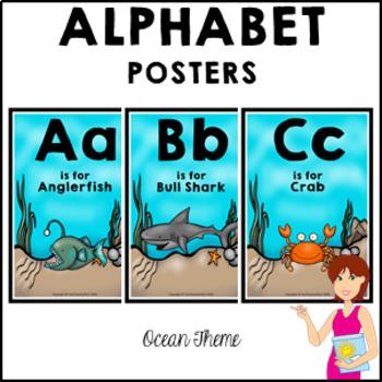 OCEAN Classroom Decor Alphabet Posters
