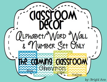Classroom Decor -Alphabet / Word Wall / Number Set Only