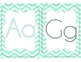 Classroom Decor {Aqua and Gray} Alphabet (plain) and Word Wall