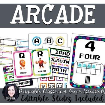 Classroom Decor - Arcade Theme