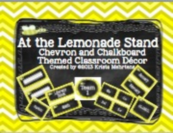 Classroom Decor:  At the Lemonade Stand-Chalkboard and Che