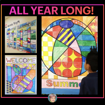 Classroom Decor BUNDLE Collab Posters for Doors & Bulletin Boards ALL YEAR!