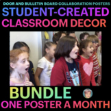 Collab Posters BUNDLE for Doors & Bulletin Boards ALL YEAR - Earth Day Included