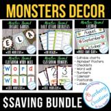 Classroom Decor BUNDLE   Cute Monster Theme