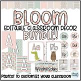 Classroom Decor BUNDLE - Editable - Pastel Bloom - Calming Decor - Nature