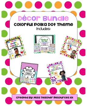 Classroom Decor BUNDLE!  Polka Dot Theme