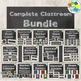 Classroom Decor BUNDLE in Chalkboard Theme