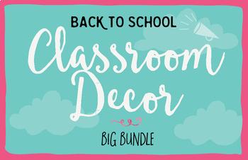 Classroom Decor Back to School Bundle by Think BIG