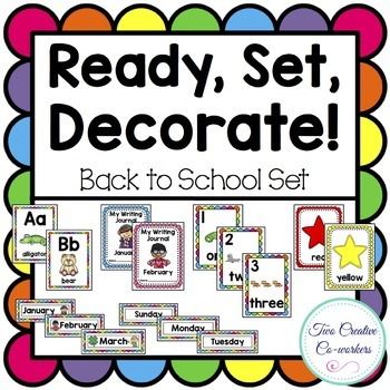 Classroom Decor Back to School Bundle