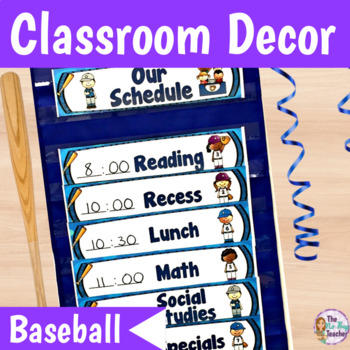 Classroom Decor Baseball Theme Blue