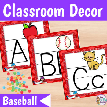 Classroom Decor Baseball Theme Red