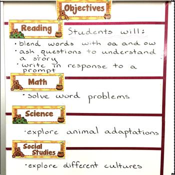 Classroom Decor Bear Theme