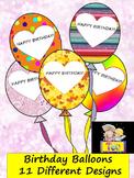 Classroom Decor Birthday Balloons - 11 Different Designs