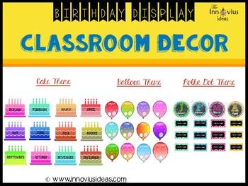 Classroom Decor Birthday Display Bundle