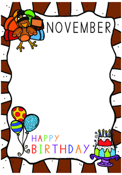 Classroom Decoration  English Birthday Month by Month posters