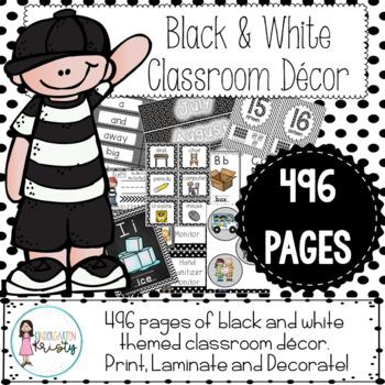 Classroom Decor - Black & White
