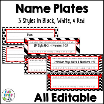 Classroom Decor {Black, White, & Red Theme}