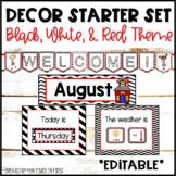 Classroom Decor Set  {Black, White, & Red Theme}