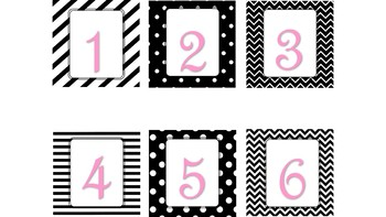 Classroom Decor: Black, White and Pink Chic EDITABLE
