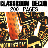 Classroom Decor Bundle | Black and Gold