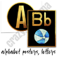 Alphabet Posters and Letters - Classroom Decor Black and Gold