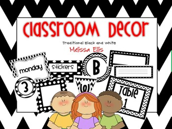 Classroom Decor - Black and White Bundle