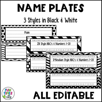 Classroom Decor {Black and White Theme}